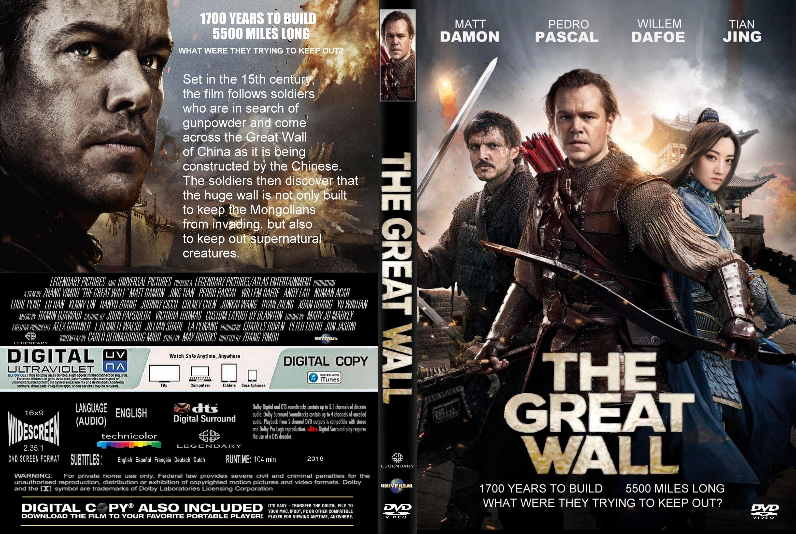 The Great Wall (2017) : Front | DVD Covers | Cover Century | Over ...